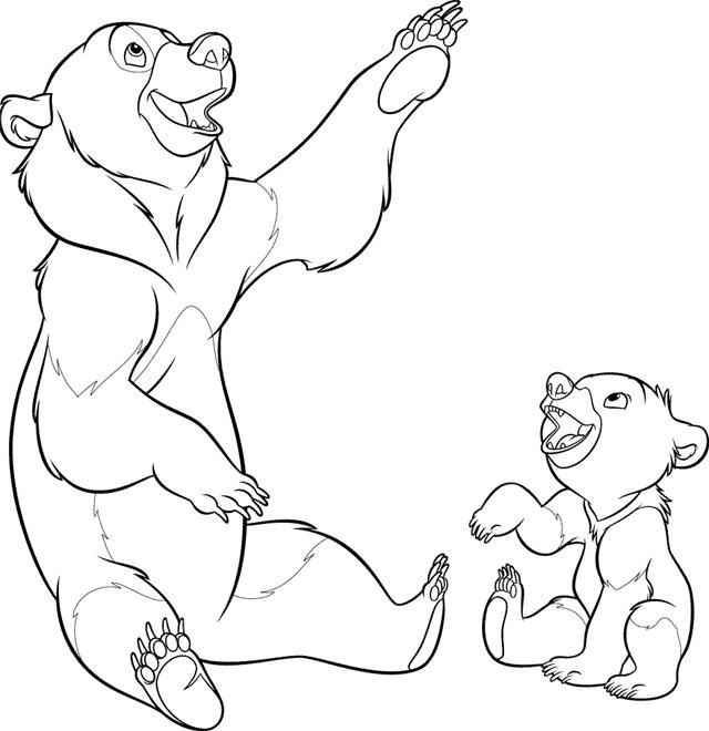 Brother bear Kleurplaten - DisneyKleurplaten.com
