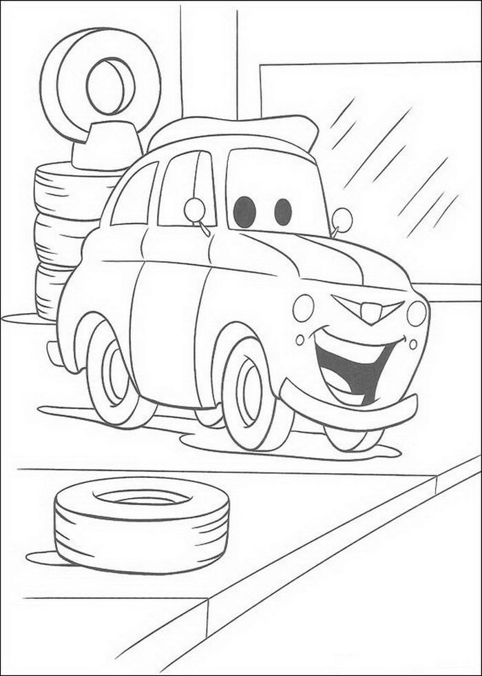 Kleurplaten Cars.Cars Kleurplaten Disneykleurplaten Com