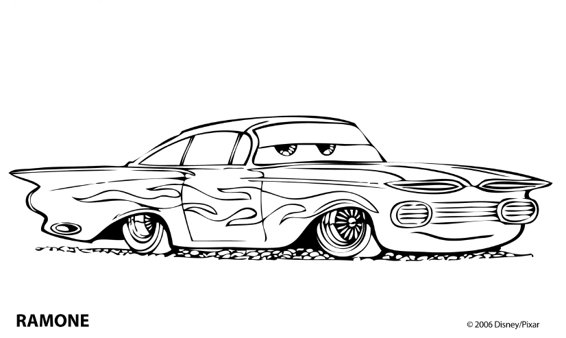 coloring pages of the movie cars | Cars Kleurplaten - DisneyKleurplaten.com