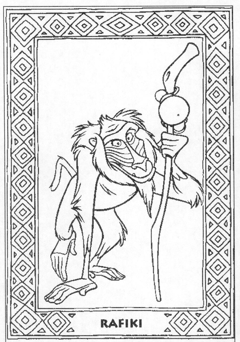 Kleurplaten Van De Leeuwenkoning.De Leeuwenkoning Kleurplaten Disneykleurplaten Com