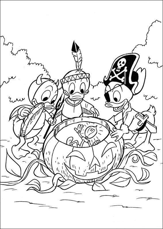 Kleurplaten Donald Duck Kwik Kwek En Kwak.Kwik Kwek En Kwak Kleurplaten Disneykleurplaten Com